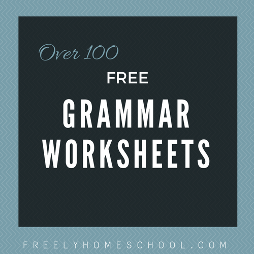 Free English Grammar Worksheets for Elementary Grades