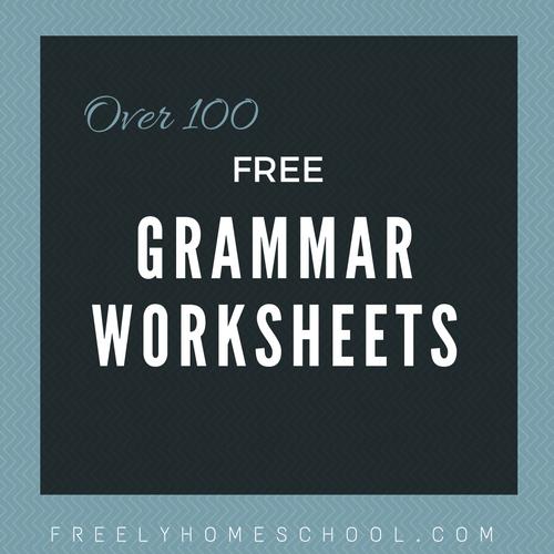 Free English Grammar Worksheets for Elementary Grades