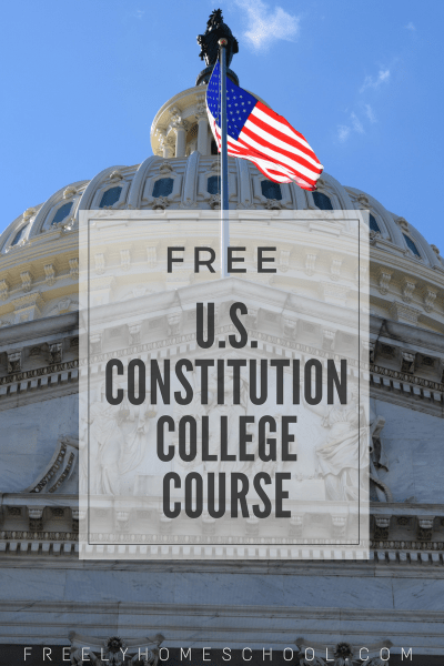Free College Course on the US Constitution