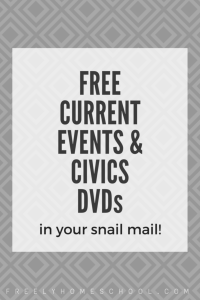 2 FREE DVDs on Current Events (in your snail mail!)