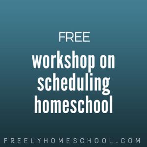 homeschool schedule advice