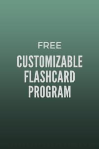 create customized flashcards