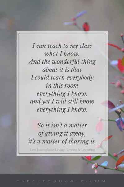 Sharing What I Know