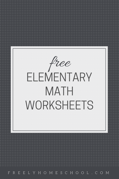 Free Math Worksheets for 1st through 5th Grades