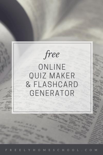 free online quiz maker and flashcard generator