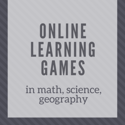 Online Learning Games in Math, Science, Geography