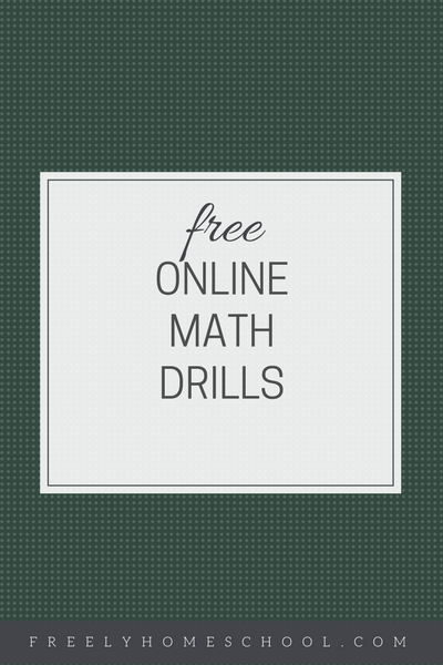 Free Online Math Drills with Progress Reports | Freely Homeschool