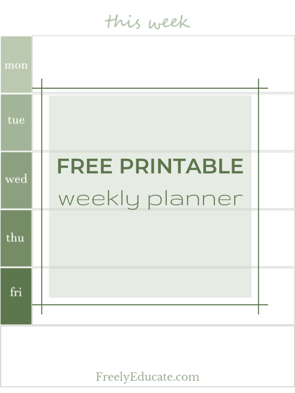 photo about Free Weekly Planner identify Cost-free Printable: a gradient weekly planner