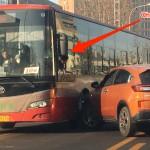 バスと乗用車の事故に遭遇〜「…無茶しやがって」٩(๑・́ᴗ・̀๑)