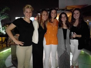 Hannah Kaufman (left) with classmates