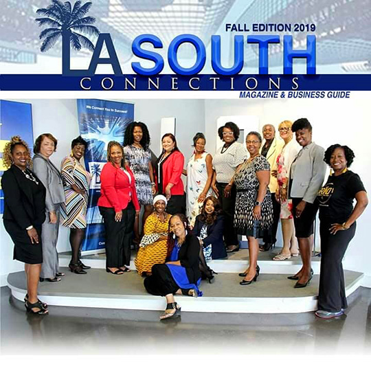 Larcenia L. Freeman appearing with other business leaders on LA South Connections magazine cover
