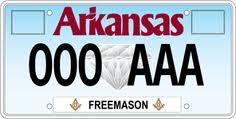 Freemason License Plate