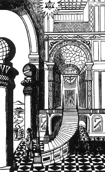 Masonic Symbolism on the Winding Staircase