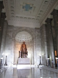 A view of the hall as you enter the memorial.