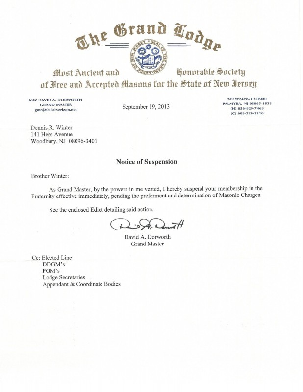 Grand Lodge Of New Jersey Destroys Another Great Masonic Career ...