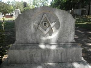 He Was A Mason, masonic gravestone, tombstone