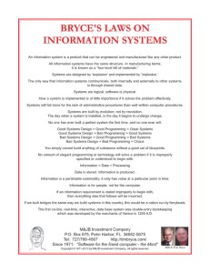 bryces law on information systems