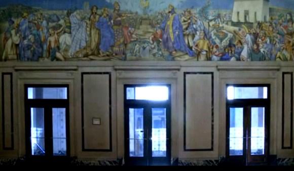 The Origins of Freemasonry Jessie Housley Holliman mural