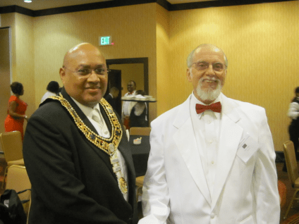 Frederic With Grand Master Curtis At York Rite Conclave