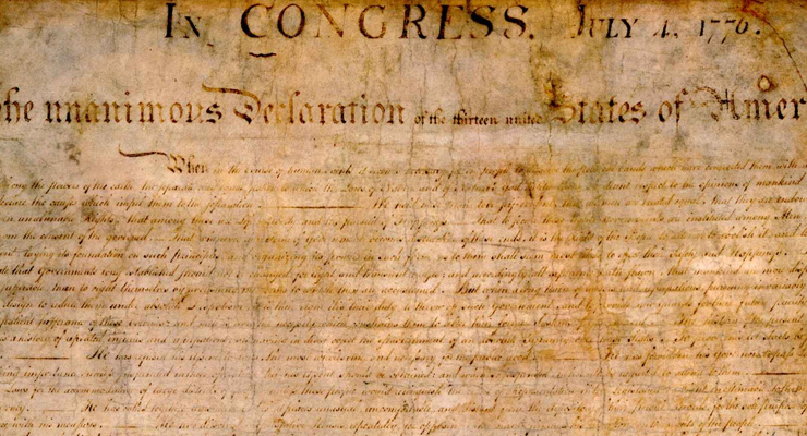 Thank you for the Declaration of Independence