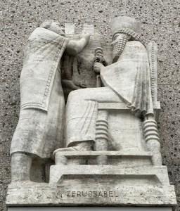 statue, Los Angeles, Zerubbabel, temple, builder