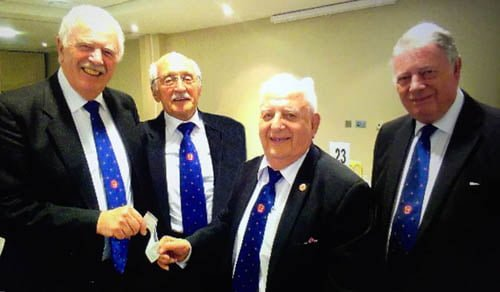 Sure and Stedfast Lodge No 9326 bow out with Two Donations