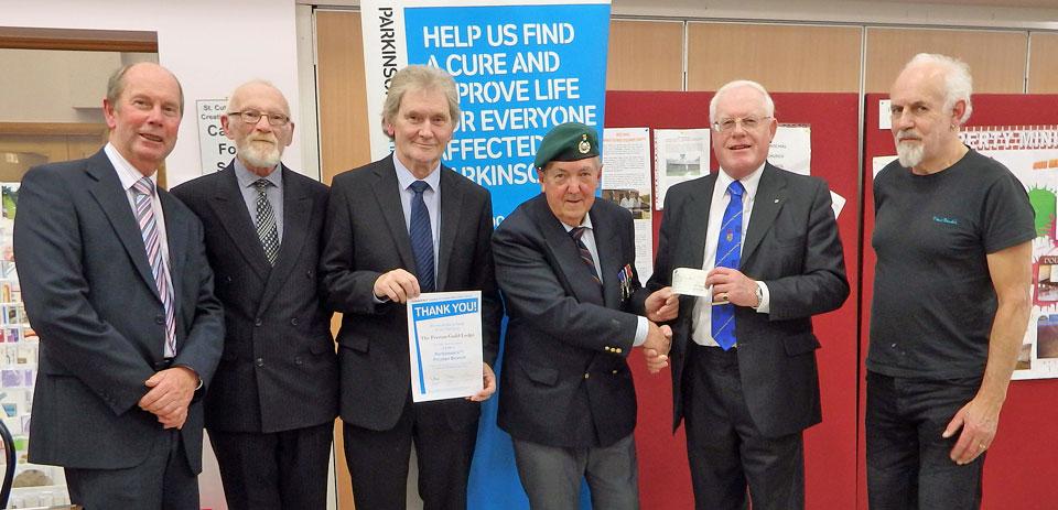 Freemasons donate £500 to Parkinson's (UK) | Freemasonry Matters