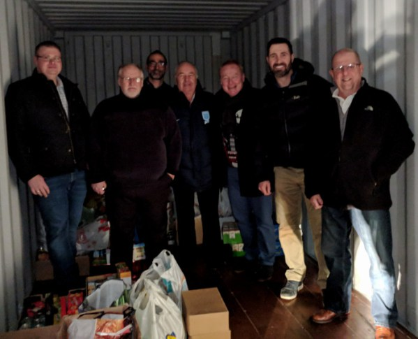 Freemasons Donate to the Food Bank in Middlewich for Christmas
