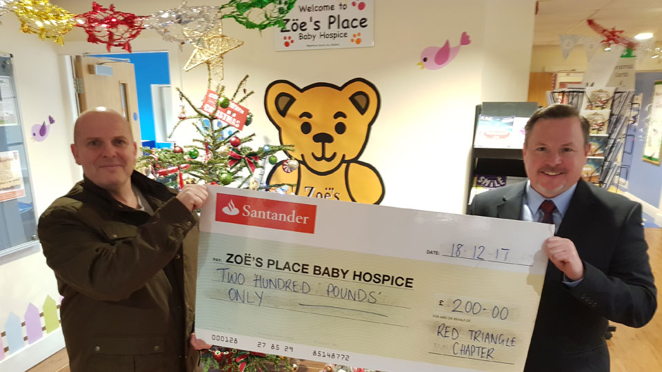 Freemasons donate to Zoë's Place Hospice
