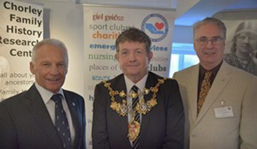 Freemasons support Lancashire Family History and Heraldry Society