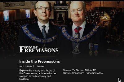 Netflix Offering 'Inside The Freemasons'