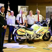"Cumberland & Westmorland Freemason's Life Saving Gift to ""Blood Bikes Cumbria"""