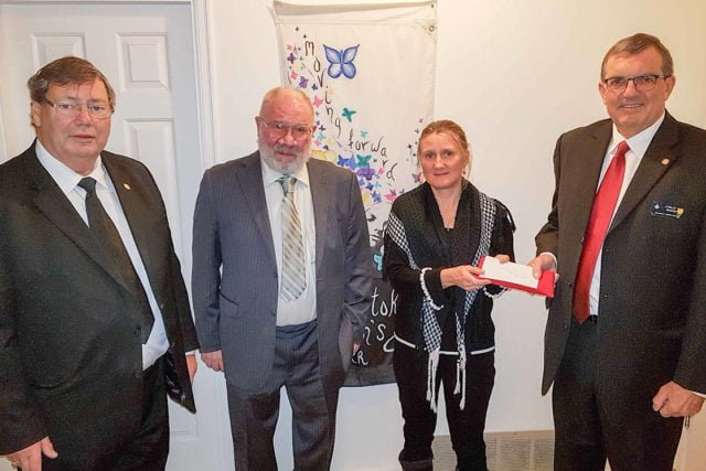 Freemasons support Women's Shelter Society