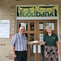 Hart Foodbank receives £1,000 donation from Elvetham Masonic Lodge