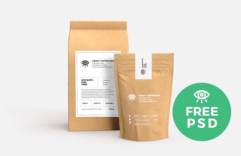 Download Craft Paper Bags Packaging Free Mockup - Free Mockup
