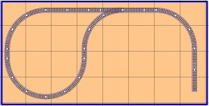 Free model railroad layout plans out-and-back reversing loop o gauge o-27 lionel mth atlas