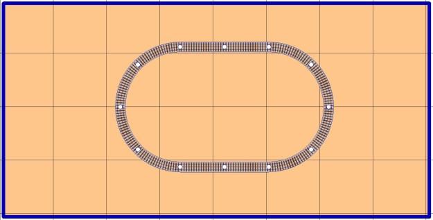 Free model railroad plans, layout, O gauge, O-27, Lionel, MTH, Gargraves, Atlas