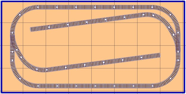 free model railroad plans, layout, sidings, 4x8, table