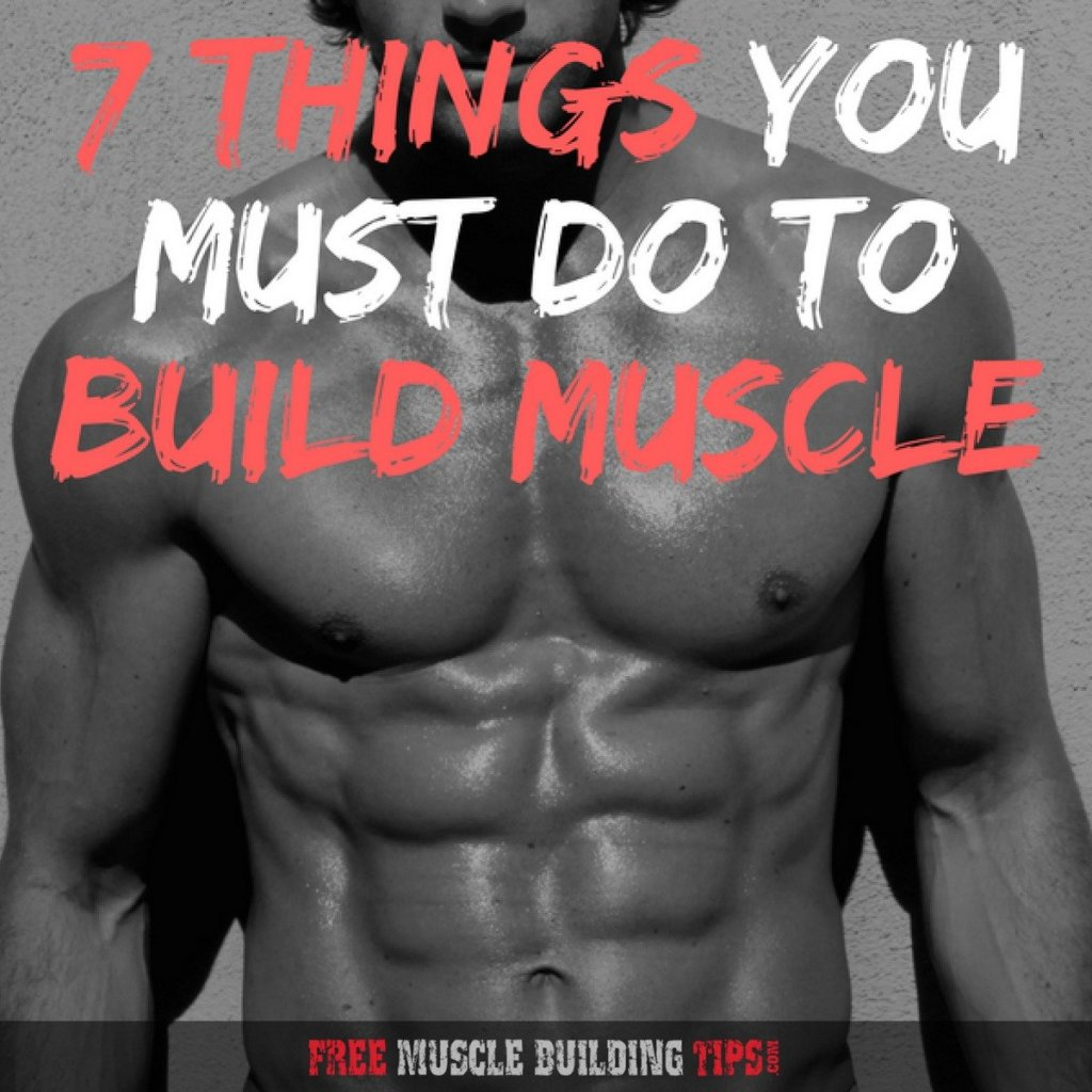7 things you must do to build muscle