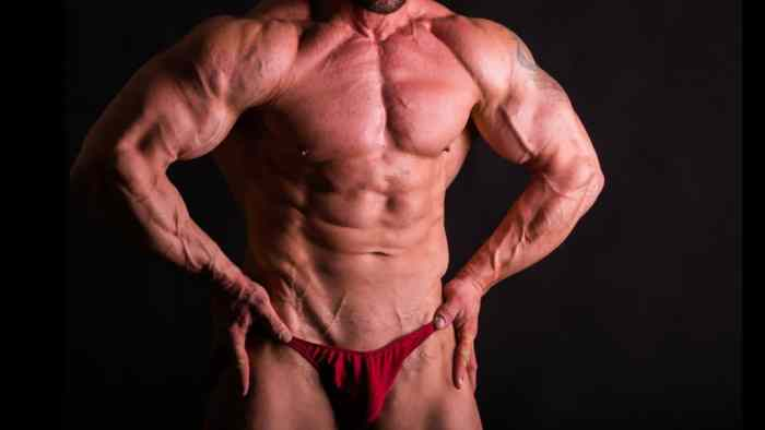 """Visual Impact Muscle building doesn't go for the """"fluffy"""" muscle head look."""