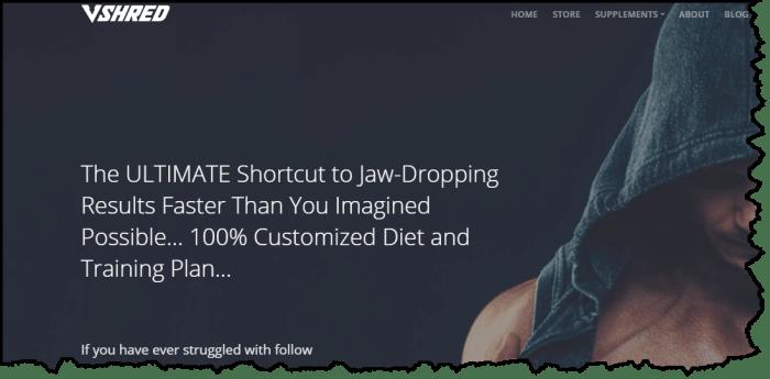v shred custom diet and training plan for him