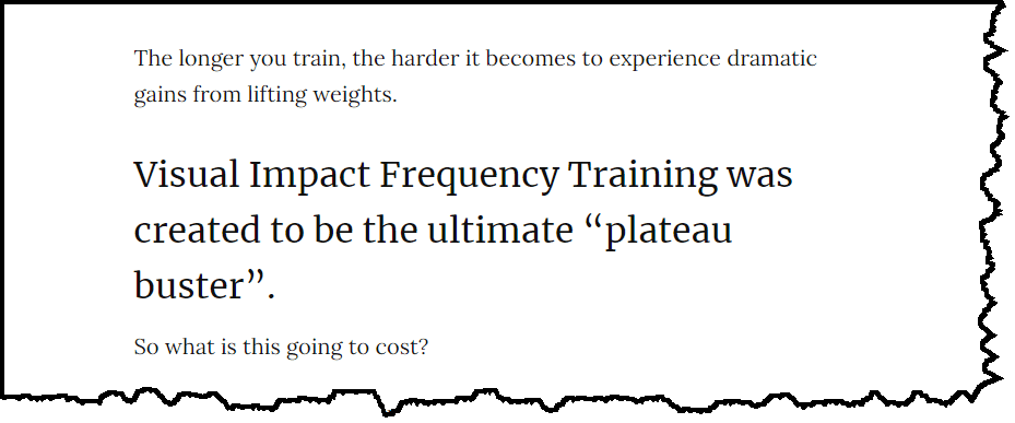 Visual Impact Frequency Training can help you bust through plateaus