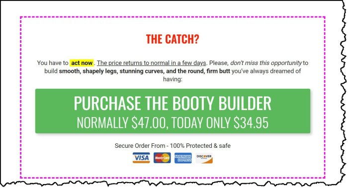 How much is the booty builder