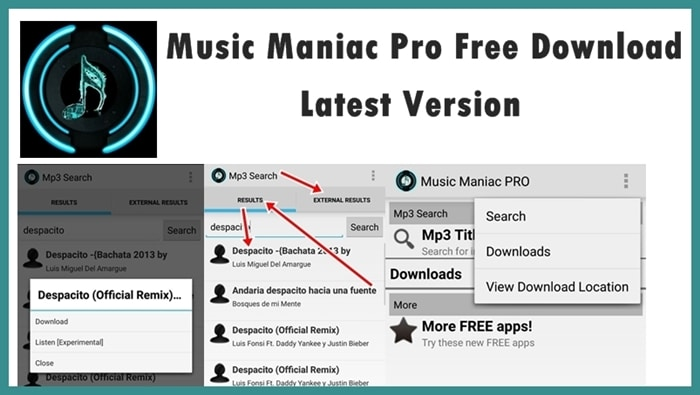 Music maniac mp3 downloader apk for android (latest version).