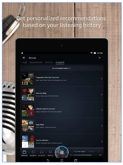 amazon music personalize content