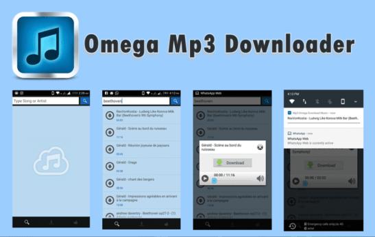 Omega Mp3 Downloader App for Android