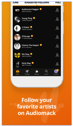 How to listen music in Audiomack music app