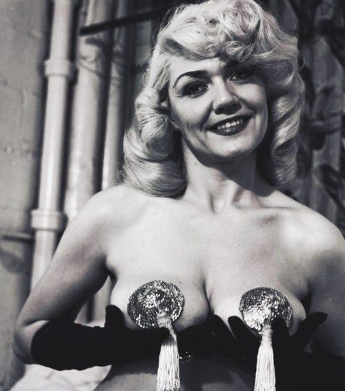 Burlesque performer in nipple tassels