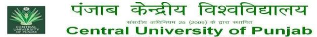 Central University of Punjab Faculty Recruitment