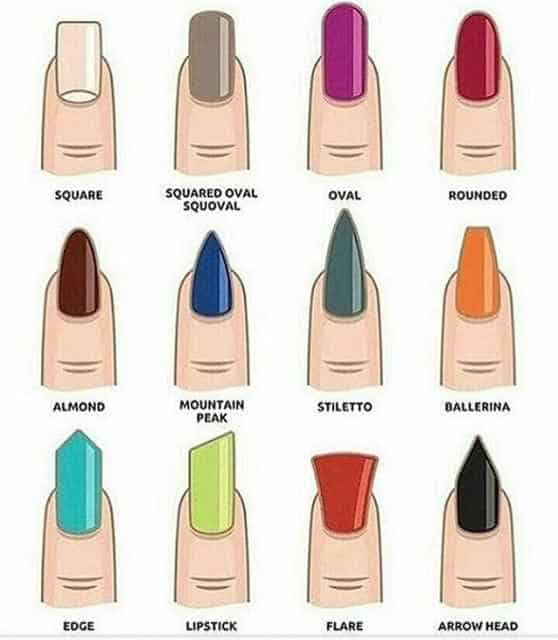 Your guide to 12 nail shapes